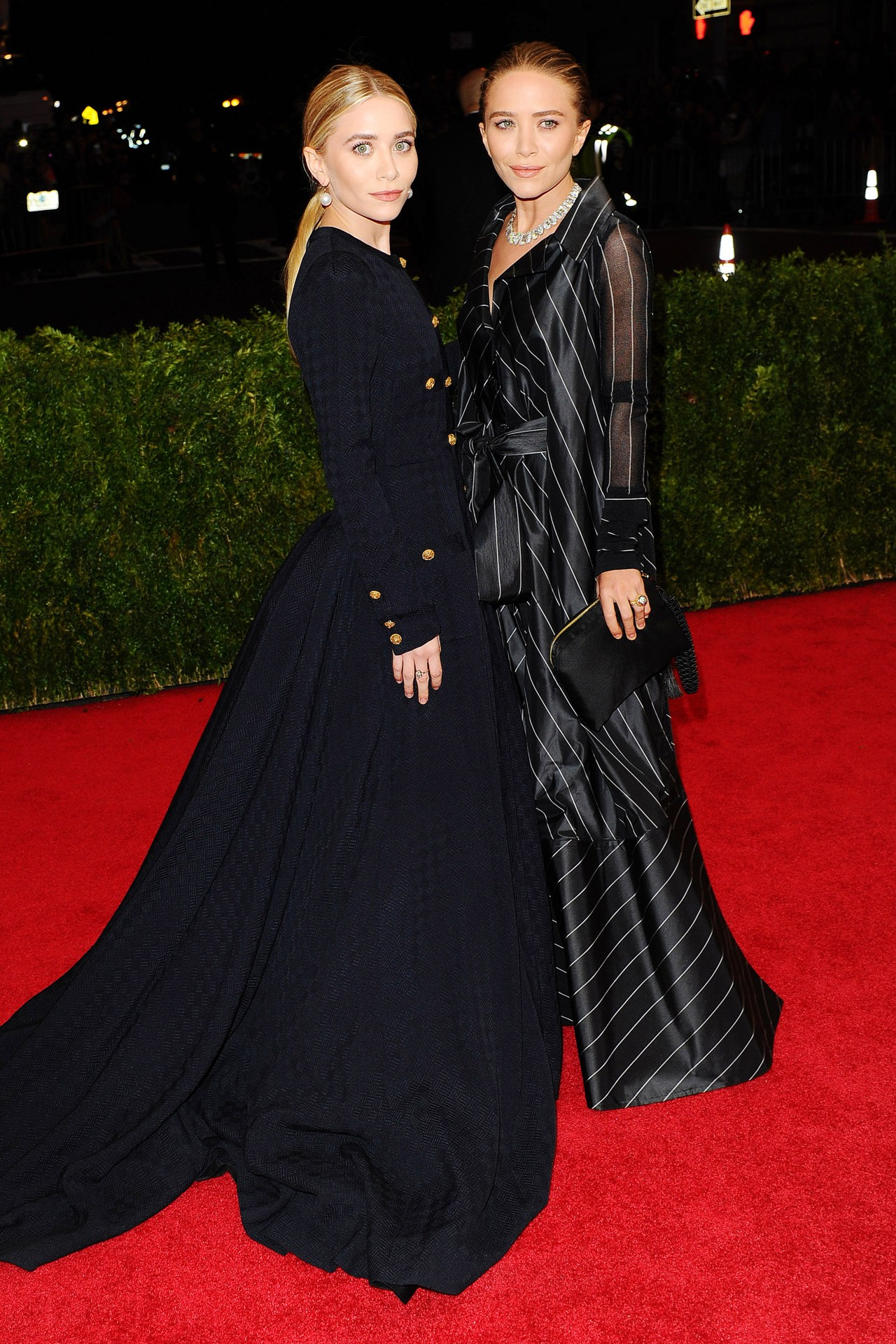 Mary-Kate and Ashley Olsen both wore vintage designs – Ferre and Chanel
