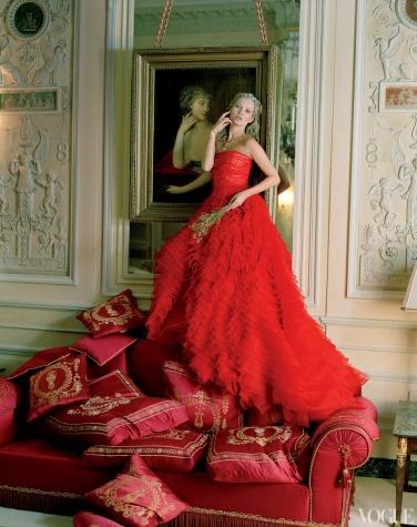 Dior Haute Couture silk dress.