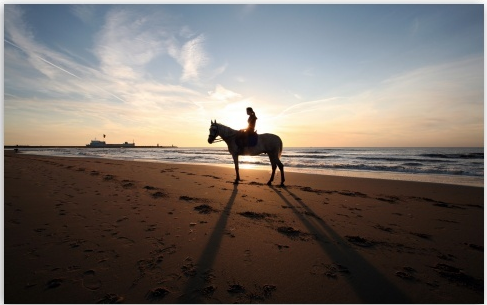 Horse Riding on the beach at sunset...