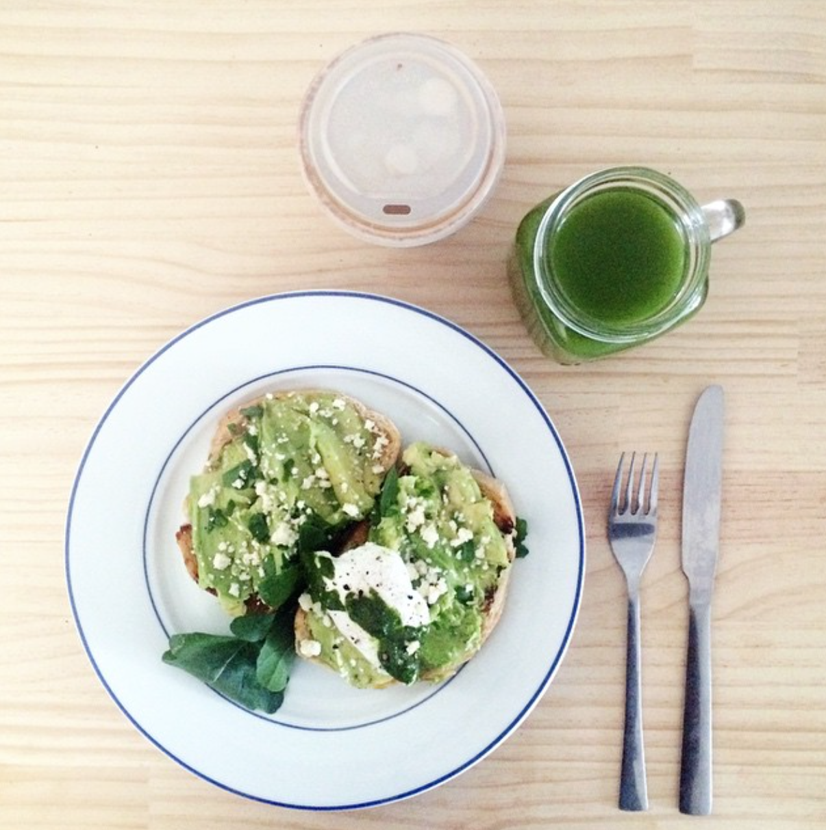 My Saturday Essentials. Avocado, Herbs & a poached egg on Sourdough, Alkaline Green Juice and Coffee! All from my absolute favourite organic cafe,  Organics at Home .