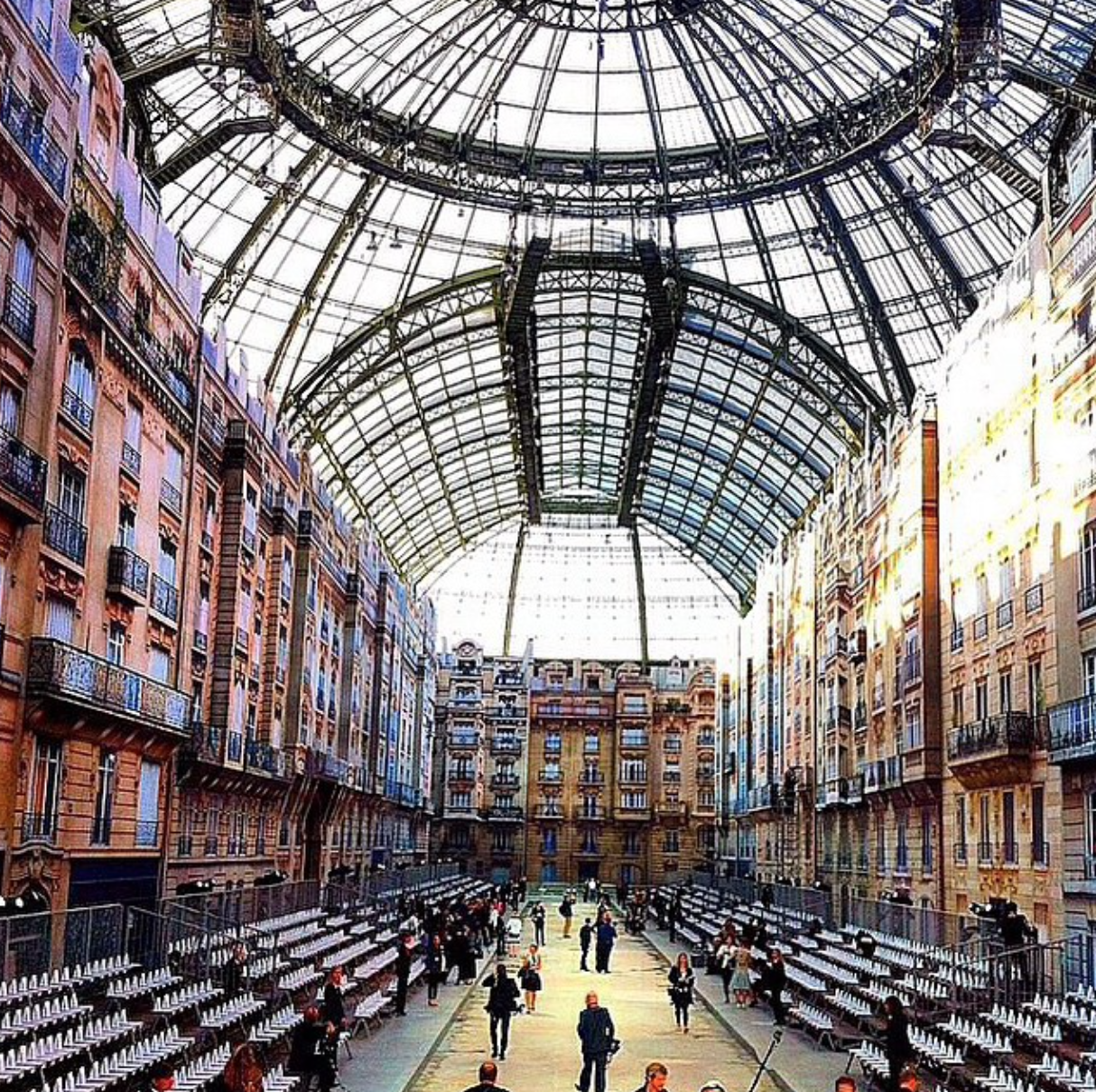 My Instagram feed has been filled with Paris Fashion Week Images. This is the amazing setting for the Chanel show.