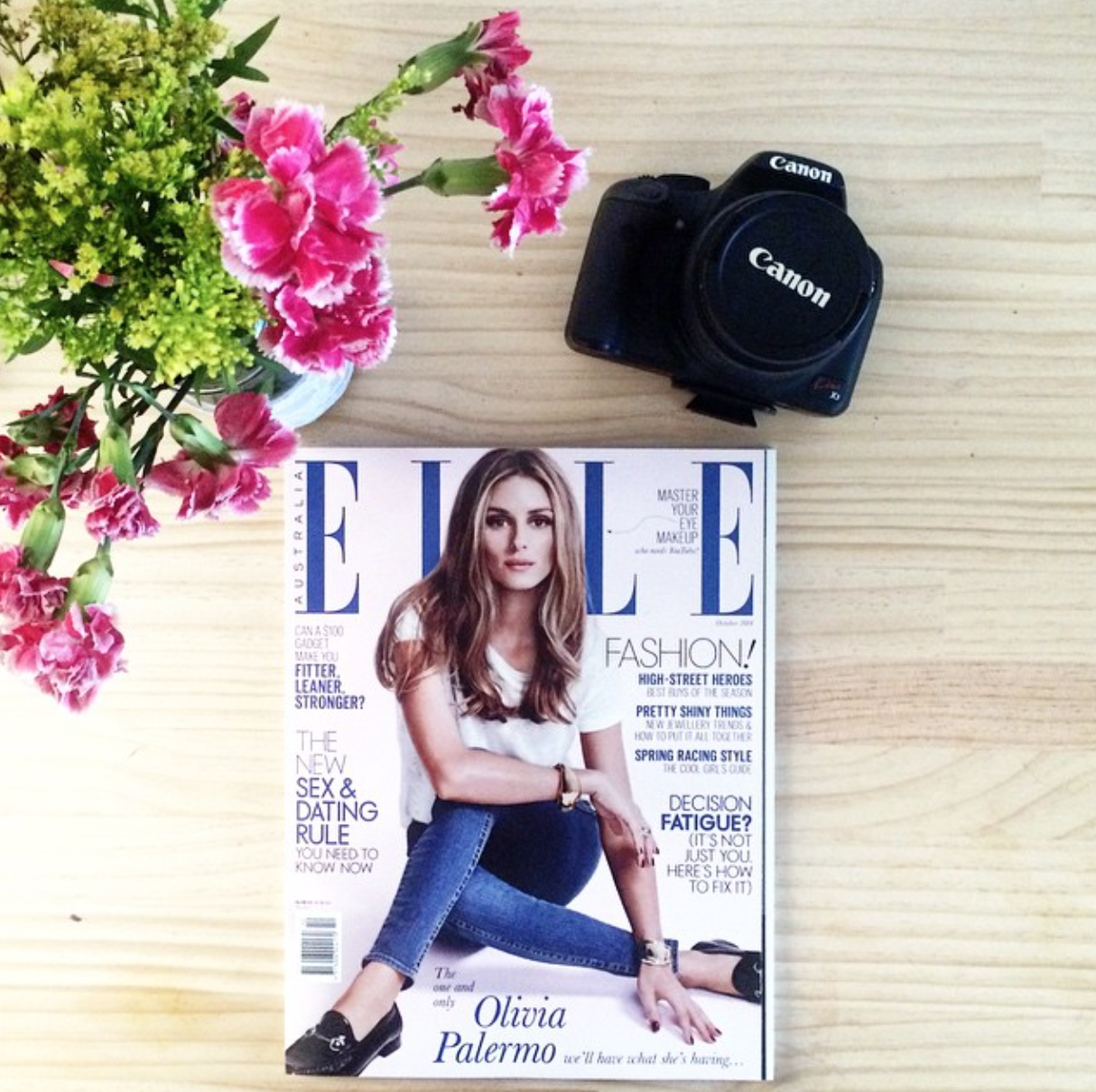 Swooning over the always chic, Olivia Palermo on the cover of this months  Elle.