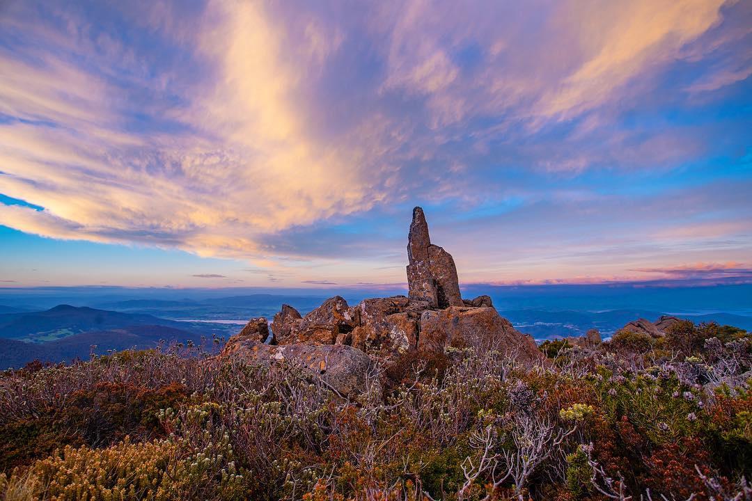 Sunset on the Mountain, Mt Wellington, Tasmania