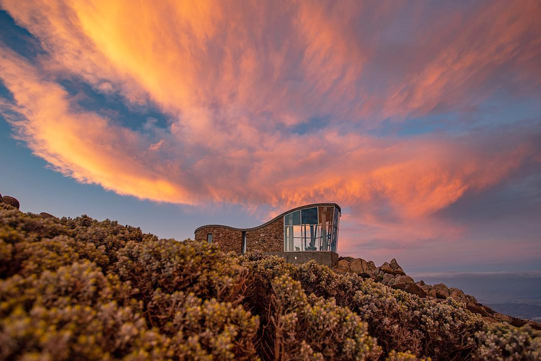Sunset over the Observatory, Mt Wellington, Tasmania