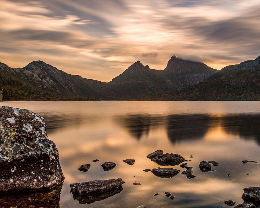 Golden Sunset, Cradle Mountain, Tasmania