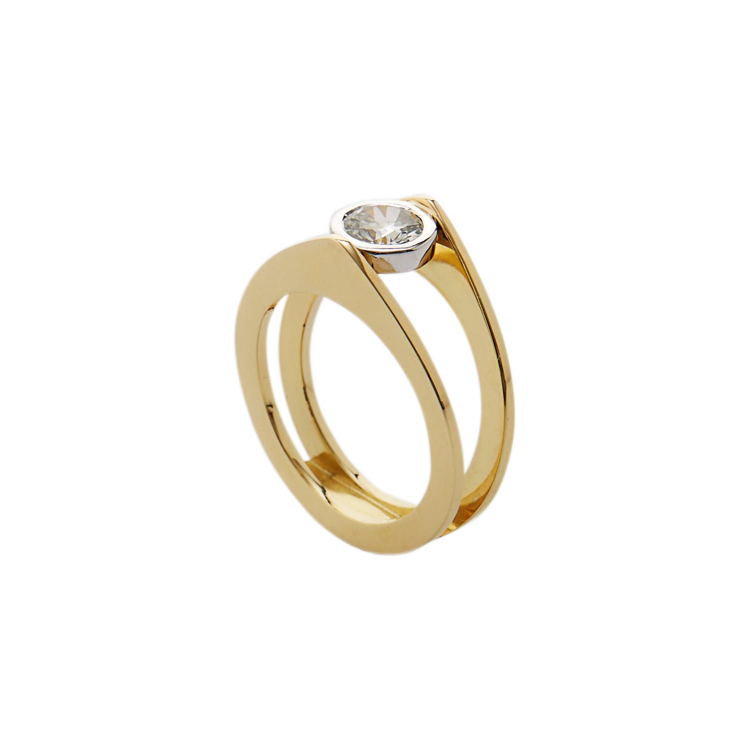 Geel & Wit Goud 18 Karaat met Diamant