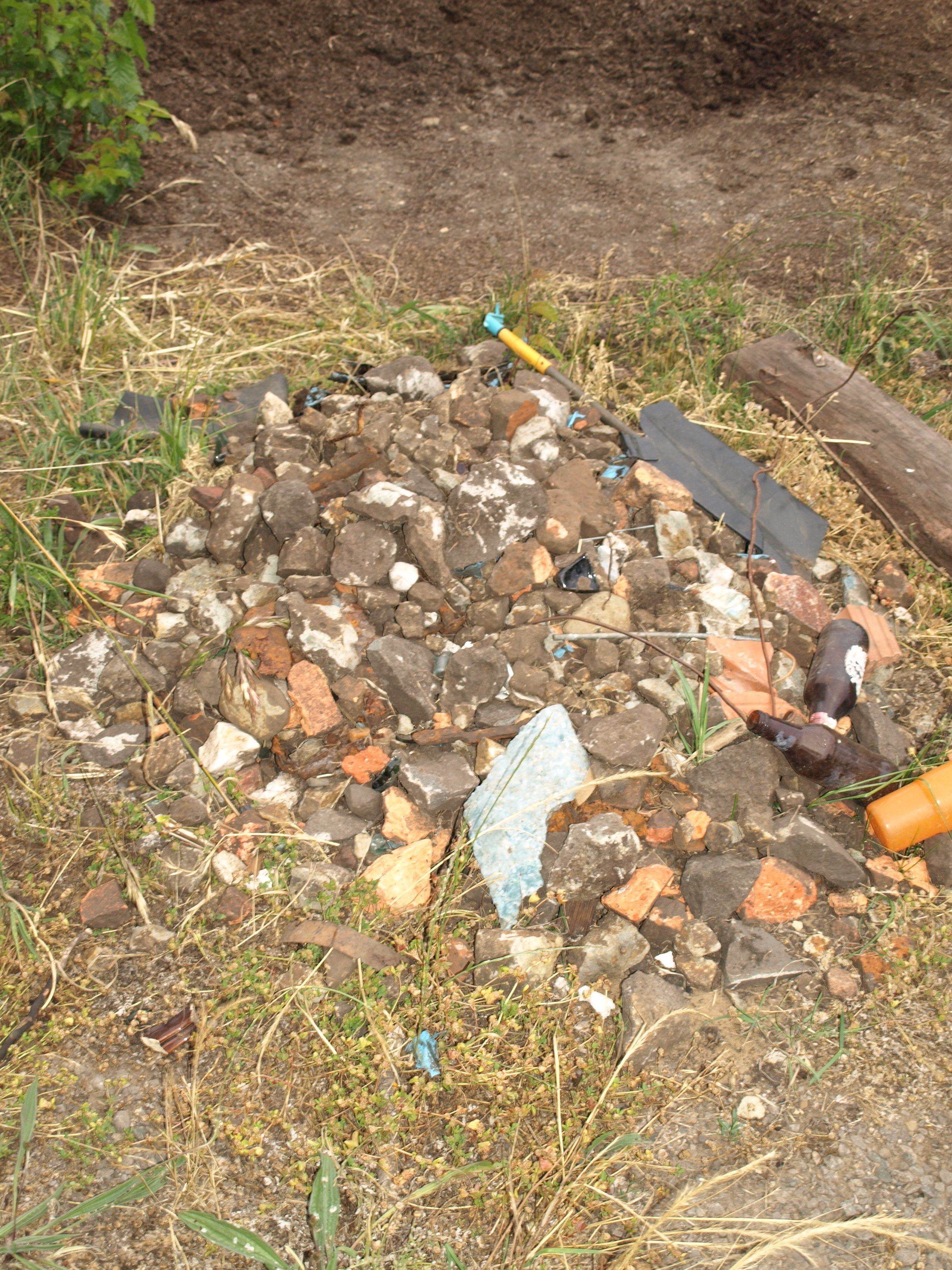 the beginning of the rubble pile, it can only get bigger