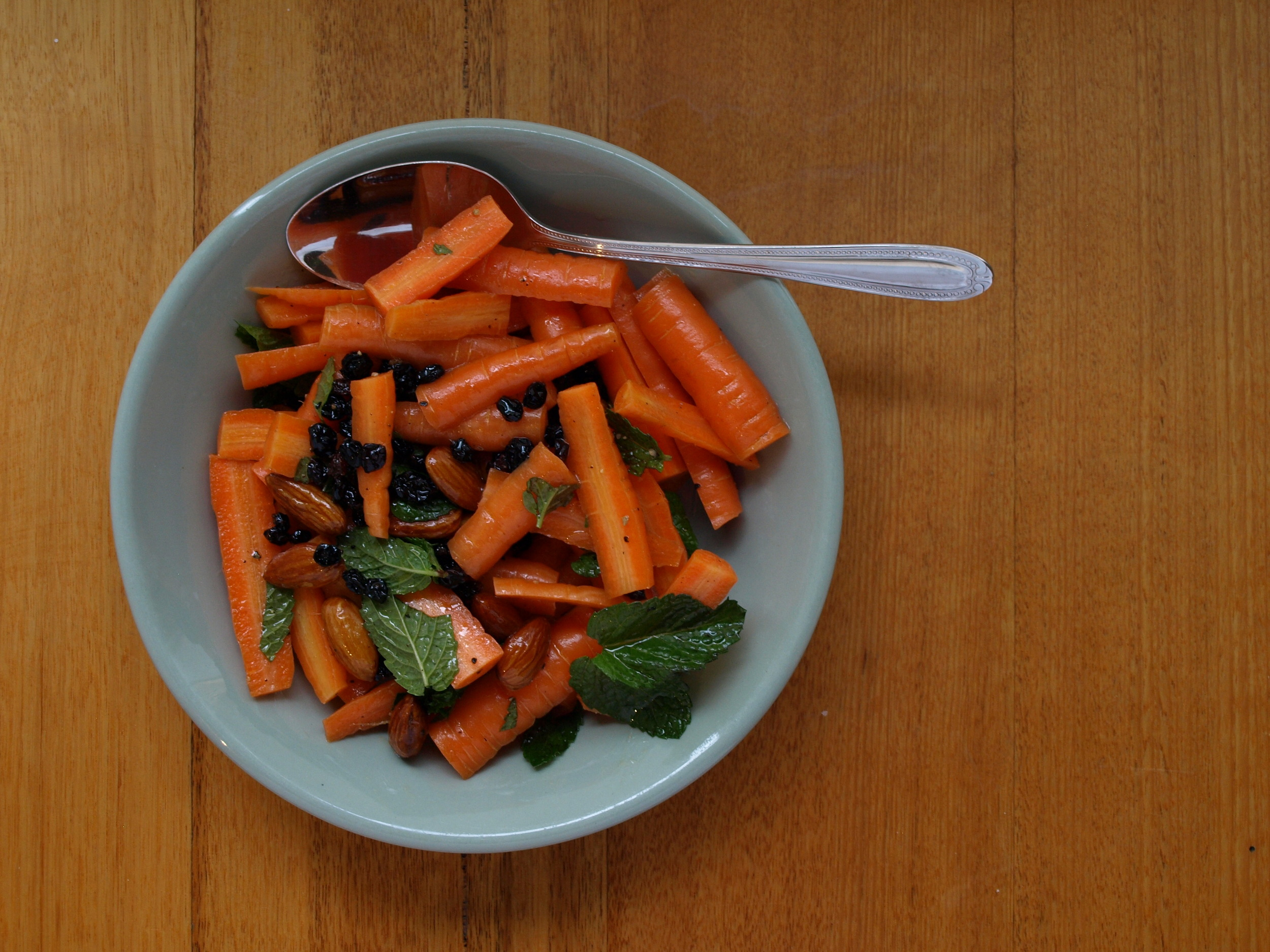 Carrot Salad with Currants, Mint and Almonds