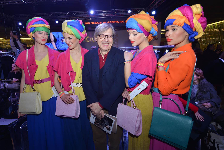 Vittorio Sgarbi and models