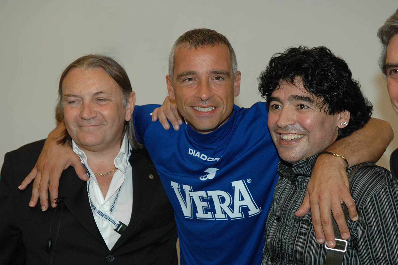Eros Ramazzotti and Diego Armando Maradona