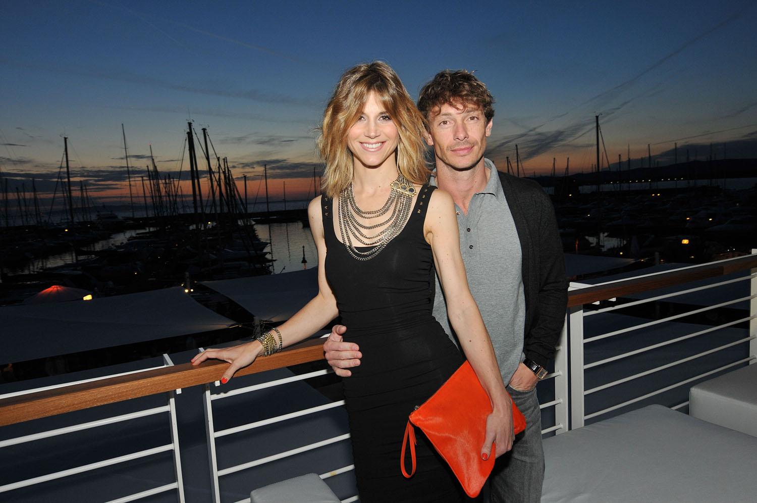 Nicoletta Romanoff and Giorgio Pasotti