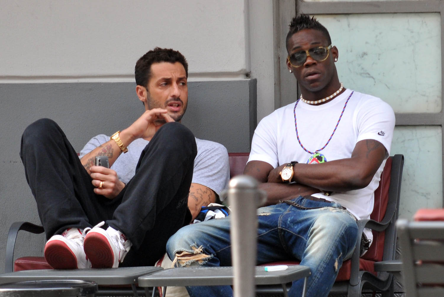 Fabrizio Corona and Mario Balotelli - bad boys