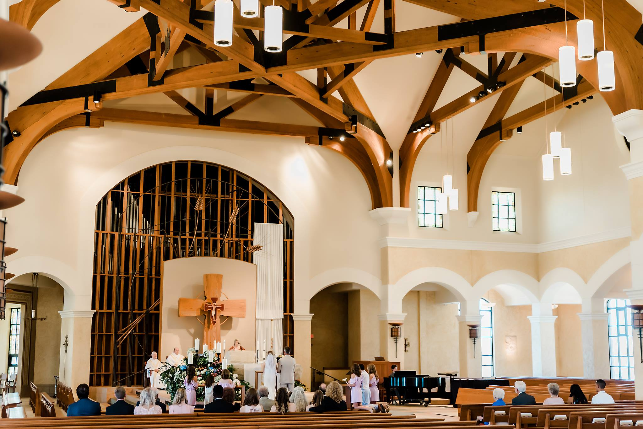 Chorpus Christi Catholic Church Wedding in Lawrence Kansas