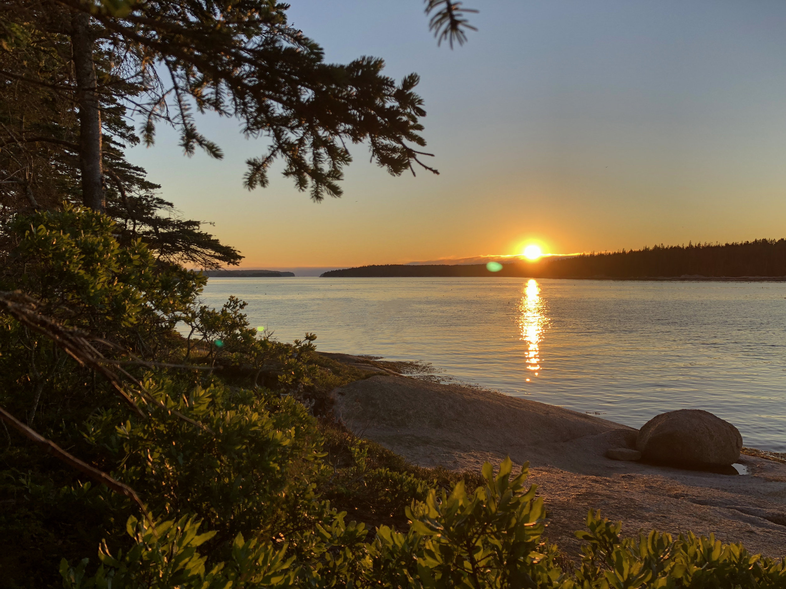 Sunset over Coombs Island ( photo by John Bacon )