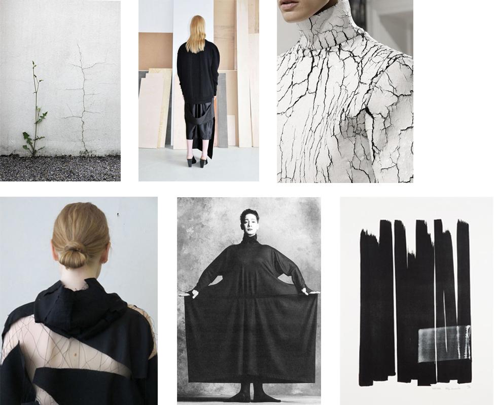 Clockwise from left:Siegfried Hansen /jåal atelier / Balenciaga / Toko Shinoda / Issey Miyake / Nina Berger
