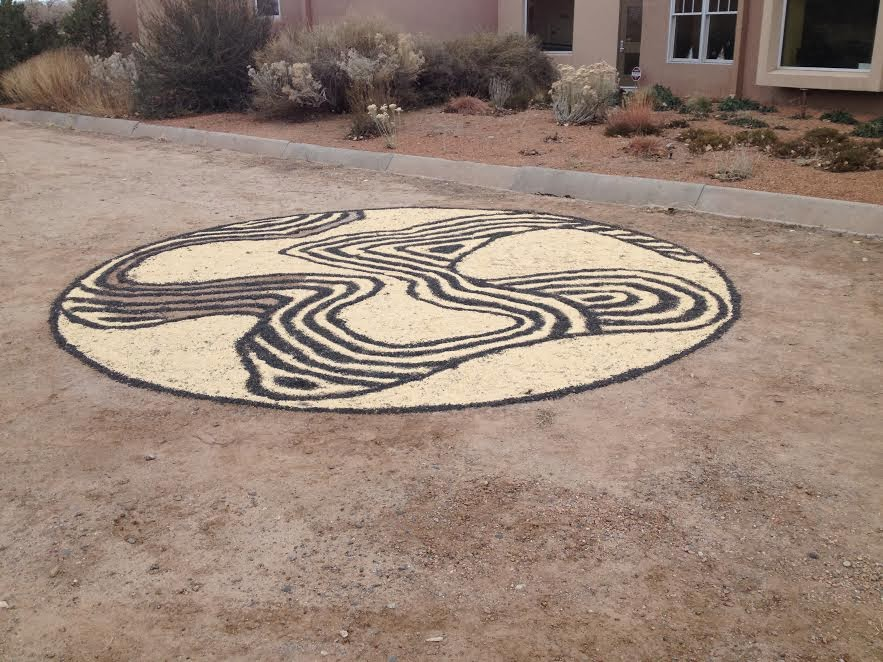 Joshua Willis, Solstice Mandala, White Millet, Black Oil Sunflower Seed, 2013