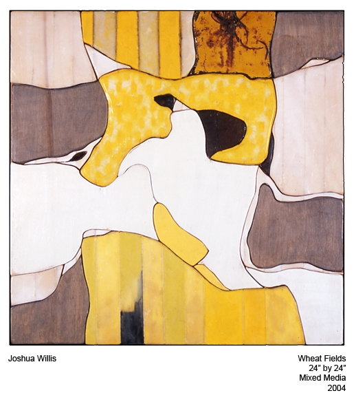 """Joshua Willis, """"Wheat Fields,"""" Mixed Media, 2004, Private Collection"""