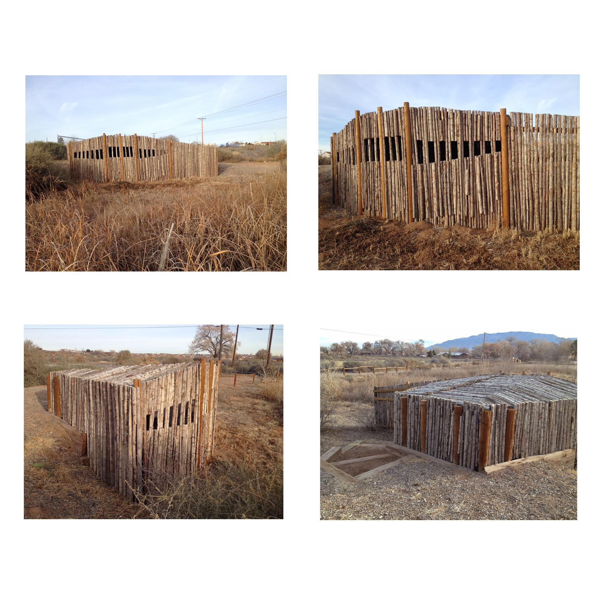 "Joshua Willis, ""Wildlife Blind,"" Open Space Visitor Center, City of Albuquerque, New Mexico, 2013"
