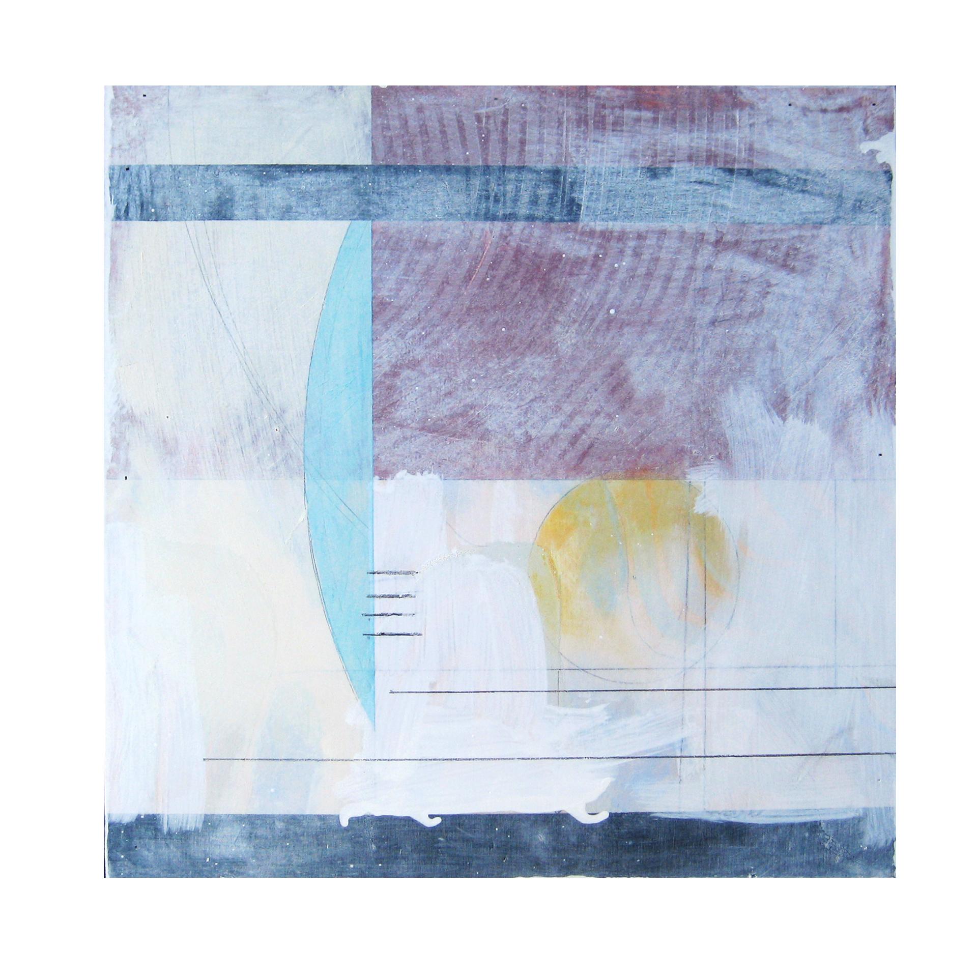 """Joshua Willis, """"Sun Moon,"""" Oil, 18""""x 18"""", 2014"""