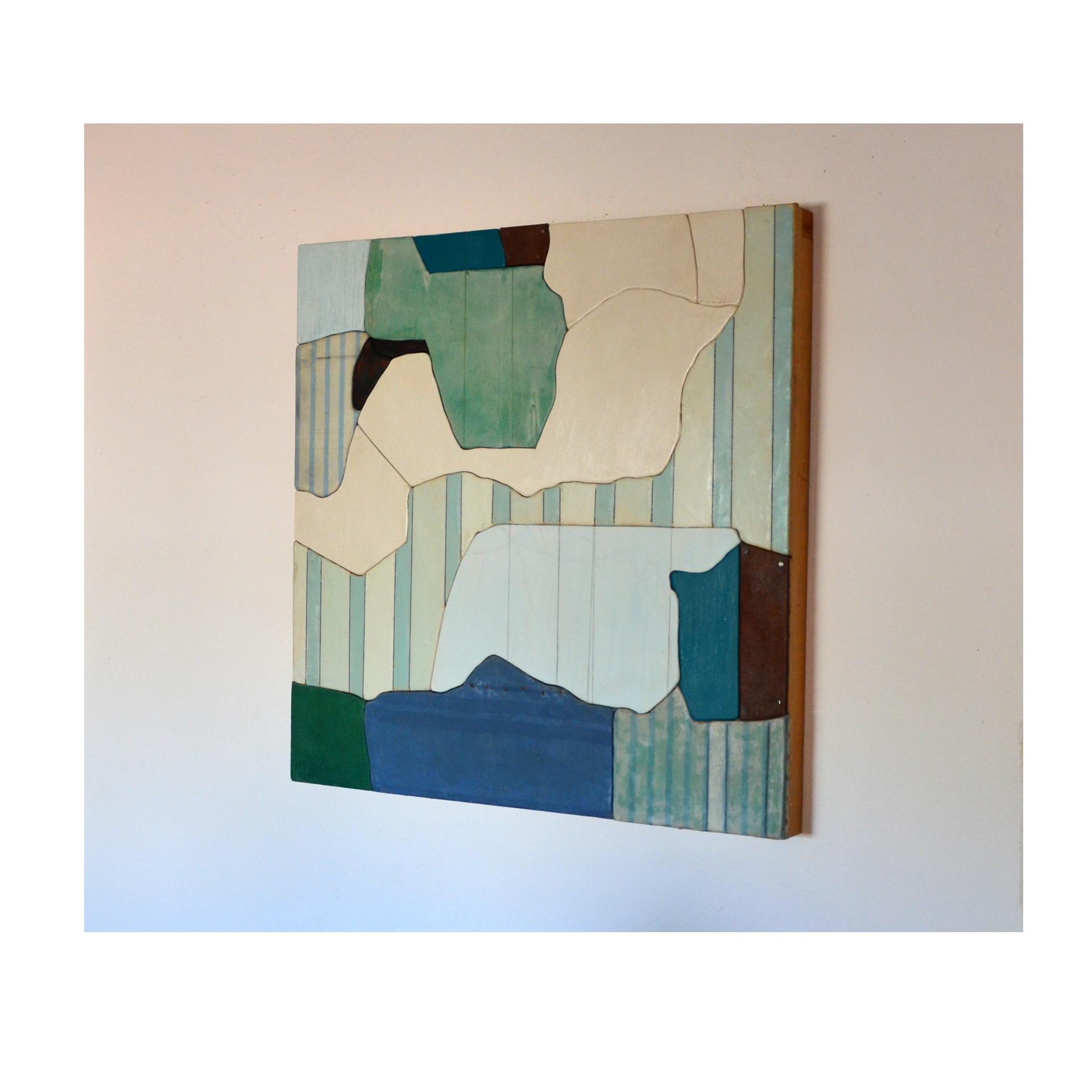 "J. Willis, ""Water Ways,"" Mixed Media, 30""x 30"", 2004"
