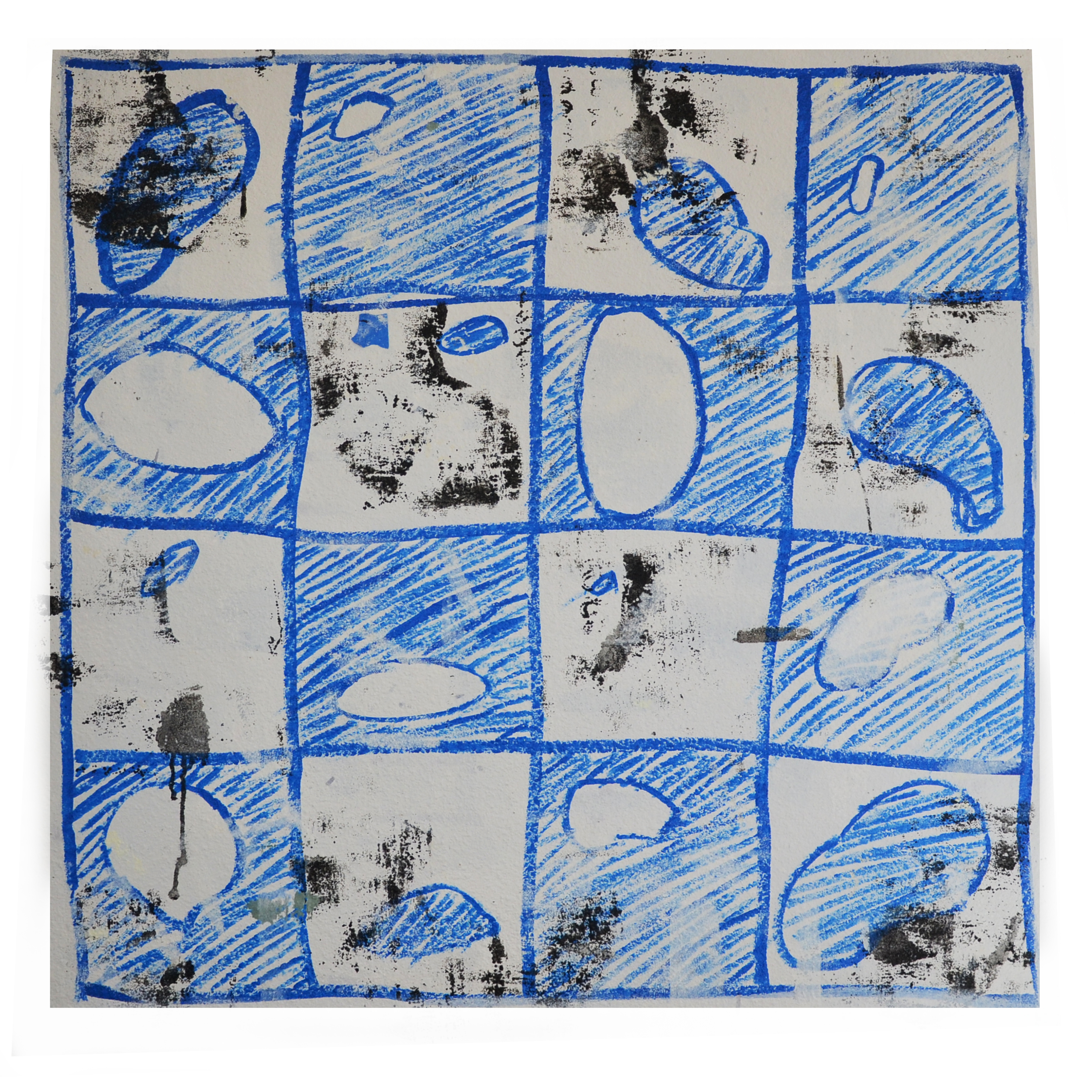 "J.Willis, ""Pinto Bean"", Acrylic, 40:x 40"", 2015"