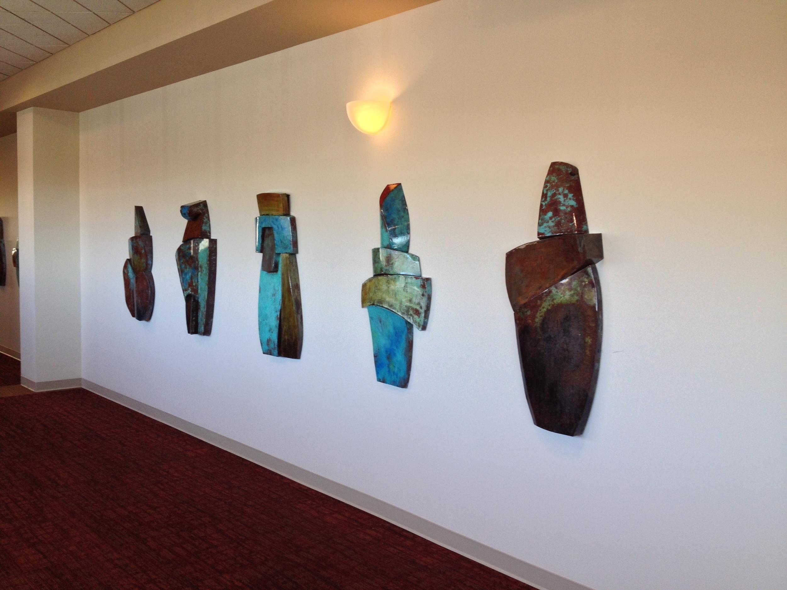 Installations for City of Albuquerque Public Art, Convention Center, 2015