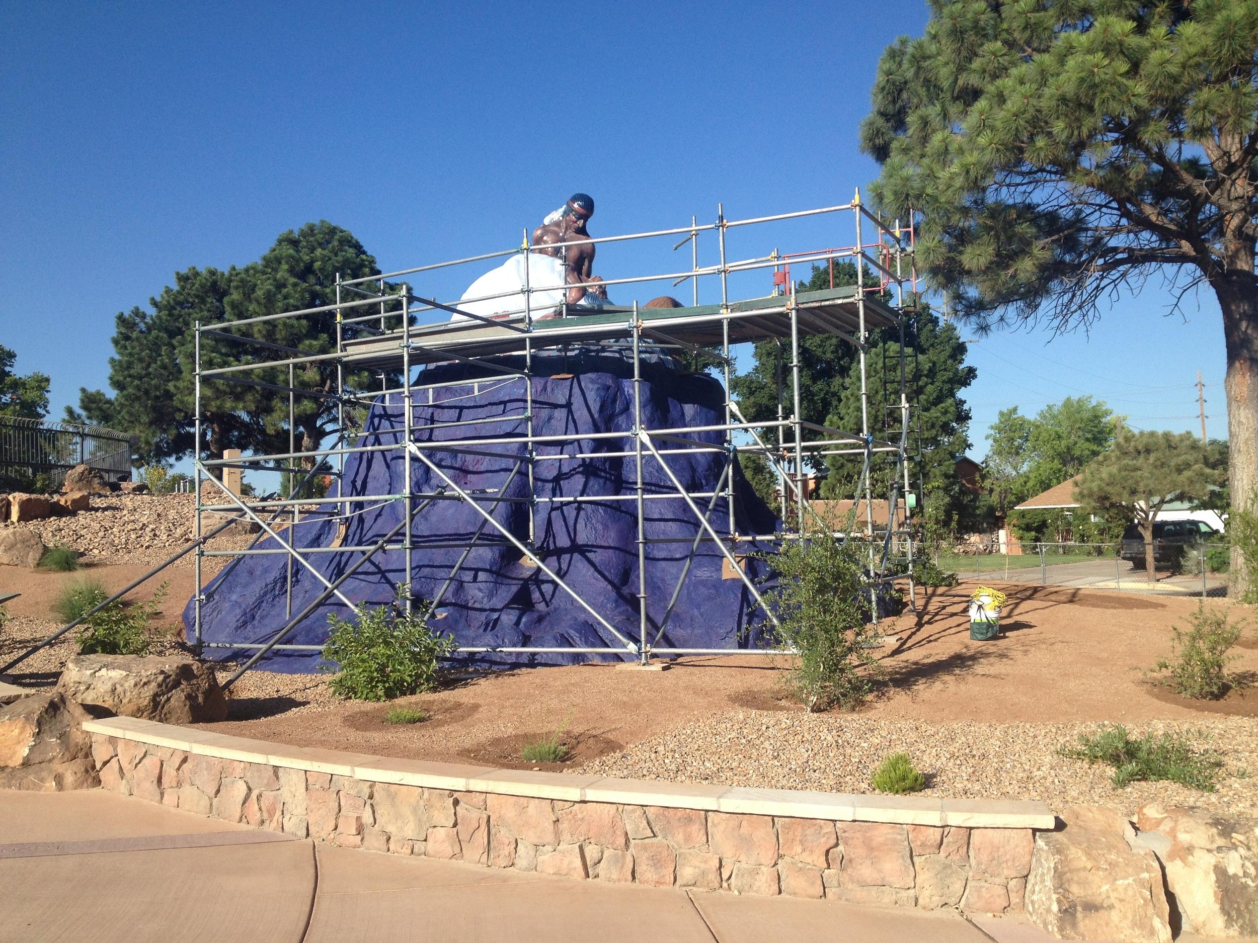 Restoration of a Luis Jumenez, City of Alb. Public Art Program, 2016