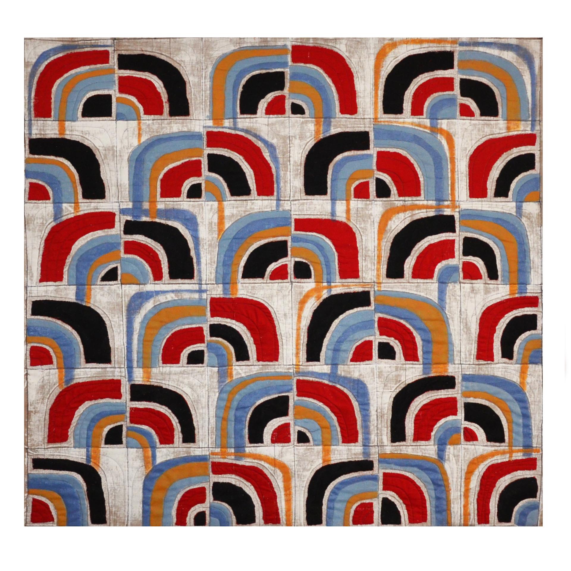"Willis, Joshua, ""Quarter Turns 54,"" Primed Raw Linen, Acrylic, 60"" x 60"", 2017"