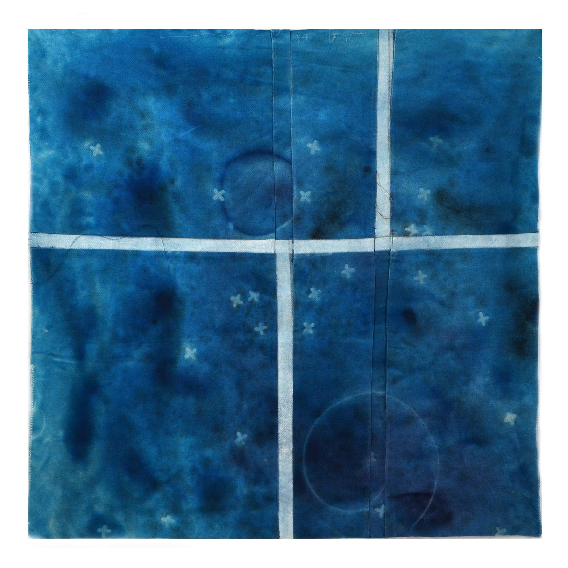 "Willis, Joshua, ""Night."" Cotton, Acrylic, 18""x 18"", 2015"