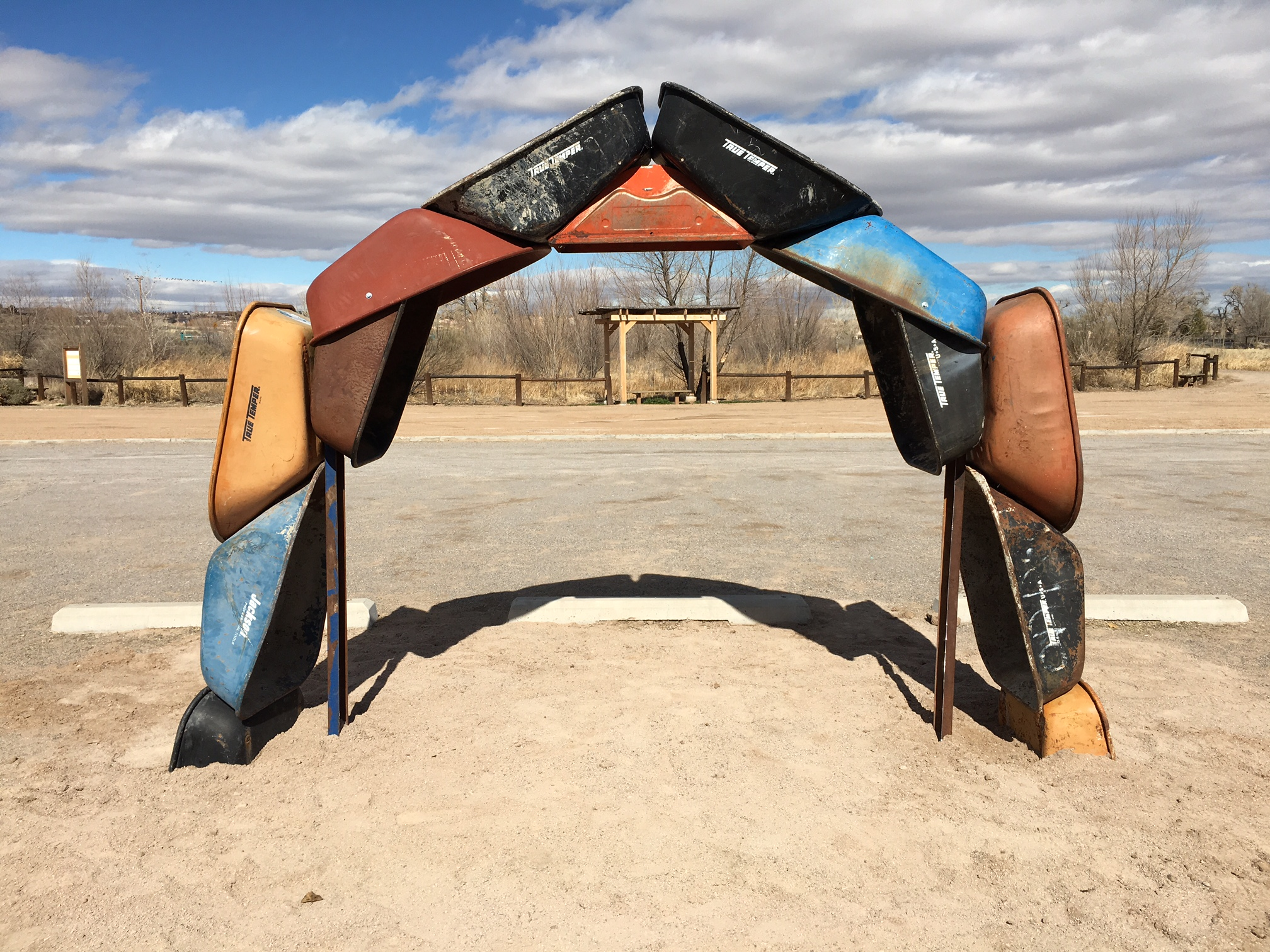 "Joshua Willis, ""Archbarrow,"" A Land Art Earthwork, Steel, Location City of Albuquerque Open Space Visitor Center, 2017"