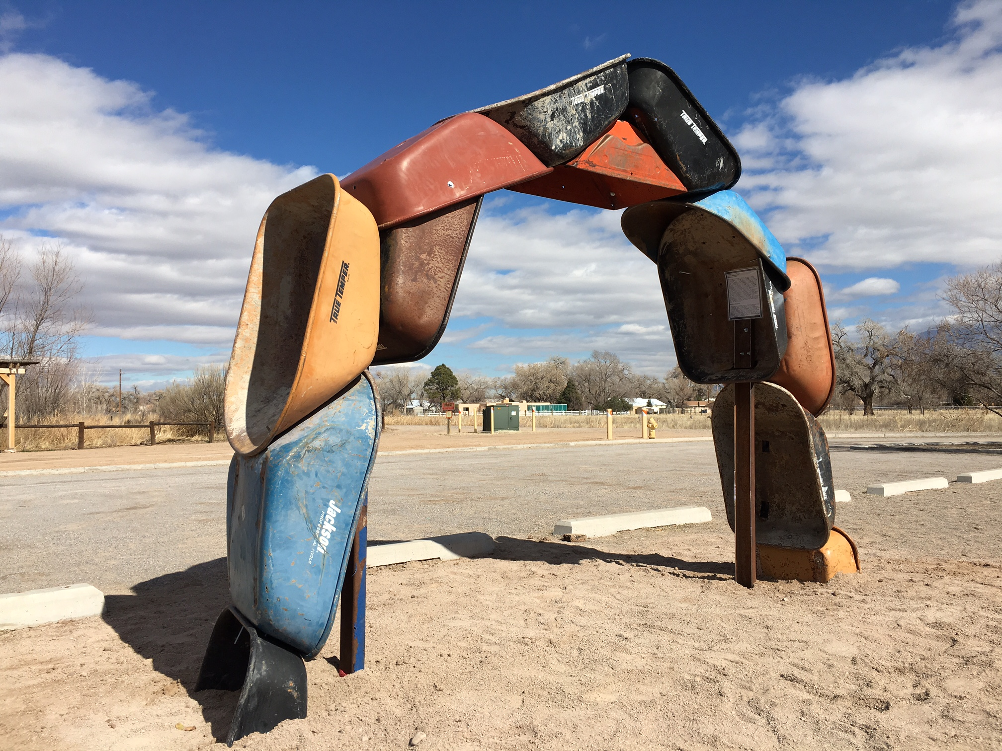 "Willis, Joshua, ""Archbarrow (a land art work),"" Steel, photo taken @ The Open Space Visitor Center, Albuquerque, NM, 2017,"