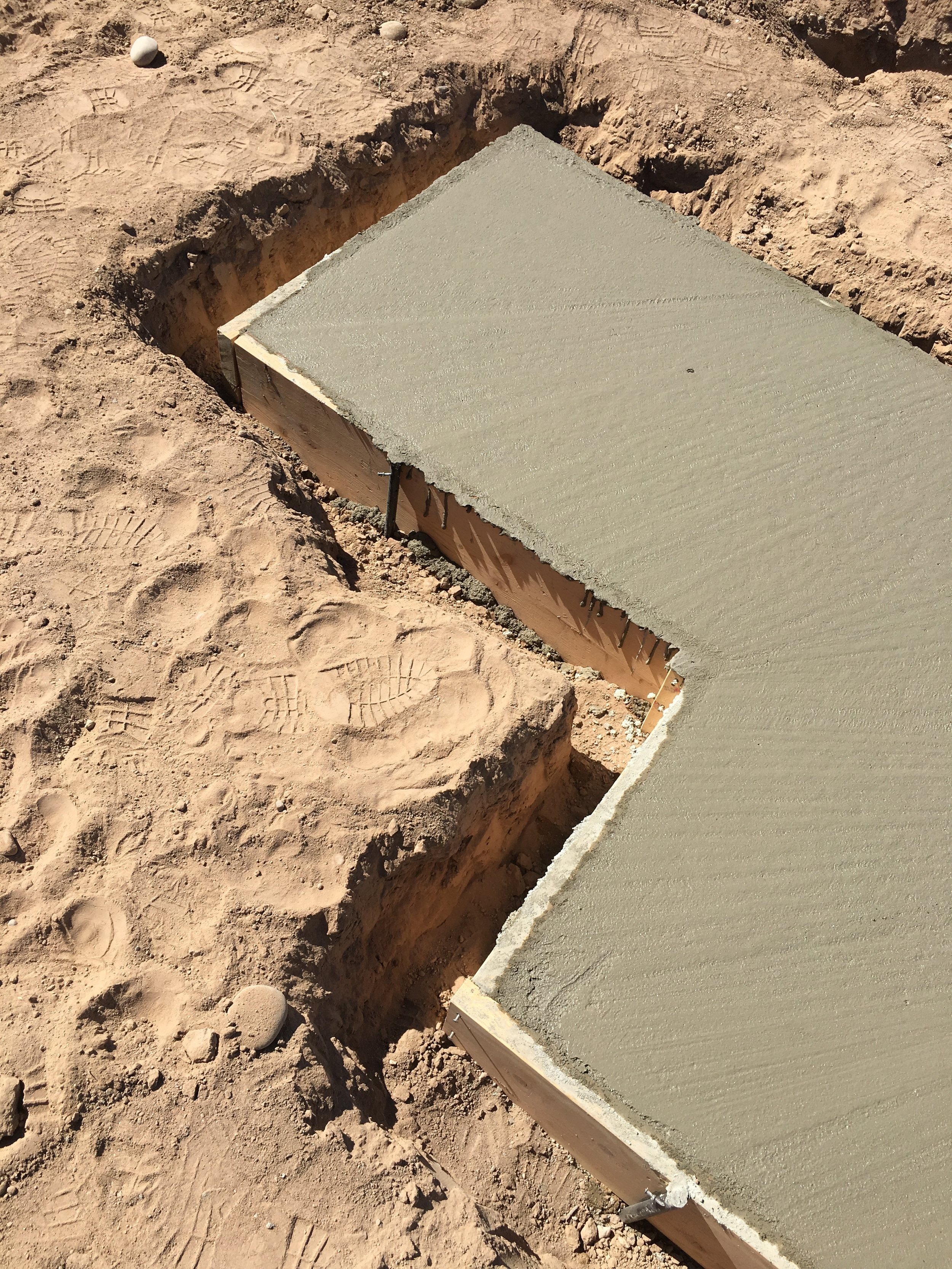 Concrete Pad, 2017, Bernalillo County Facility