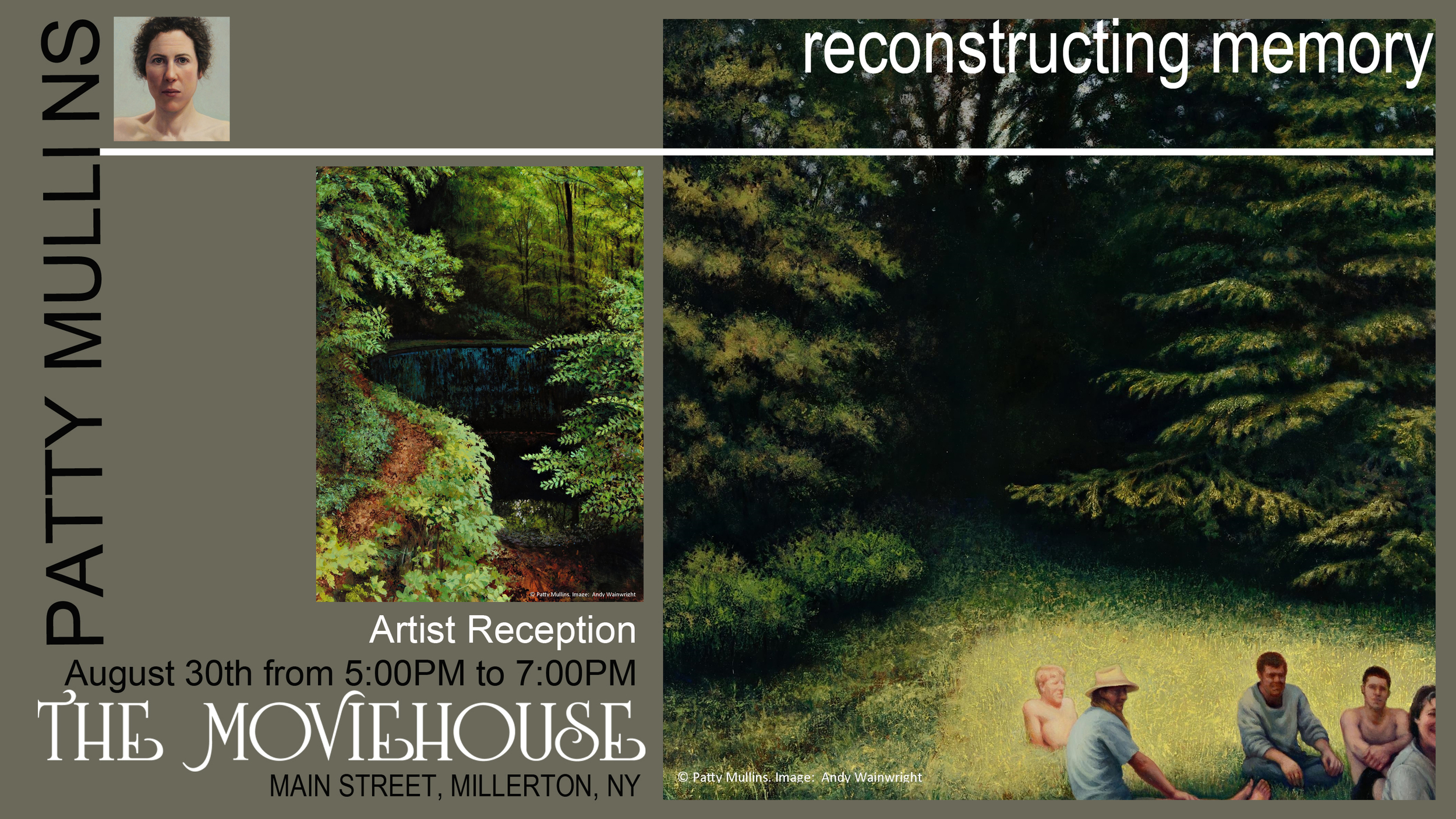 "Please join me for the opening reception of ""Reconstructing Memory"", Saturday, August 30th, 2014, from 5-7 pm at the Moviehouse in Millerton, NY."