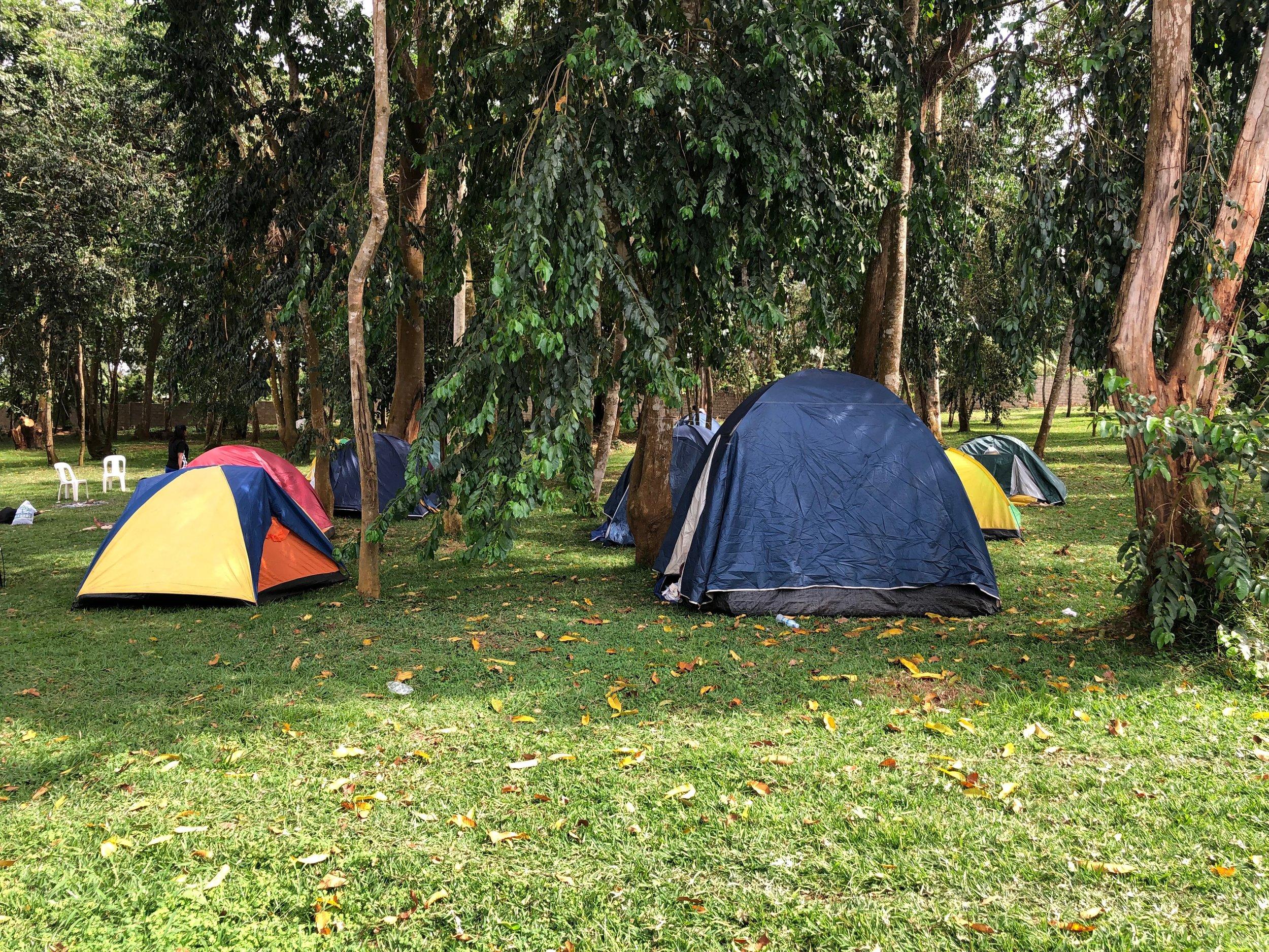 Camp site at Woods Arena