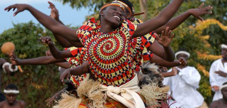 Buganda Traditional Dance being practiced in Central Uganda