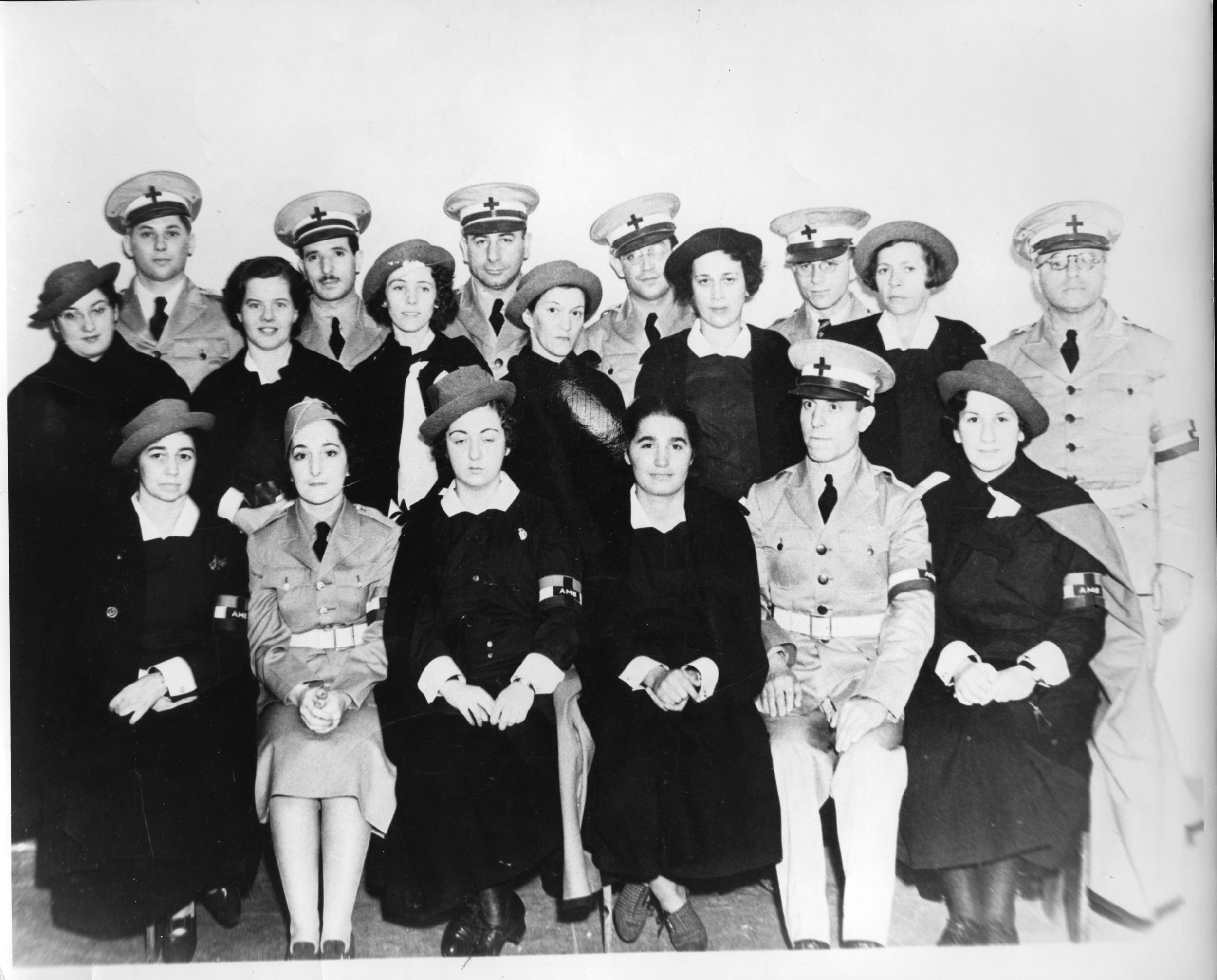 Volunteers of the American Medical Bureau (AMB), from the Frances S. Patai Collection at New York University