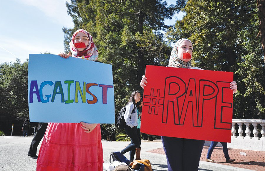 UC Berkeley students protesting rape as a weapon of war in Syria,  The Daily Californian , February 28, 2013