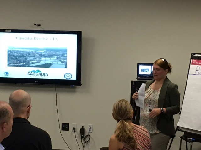 Cascadia Resolve Tabletop Exercise