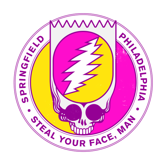 Bootleg Bart Steal Your Face concept art.