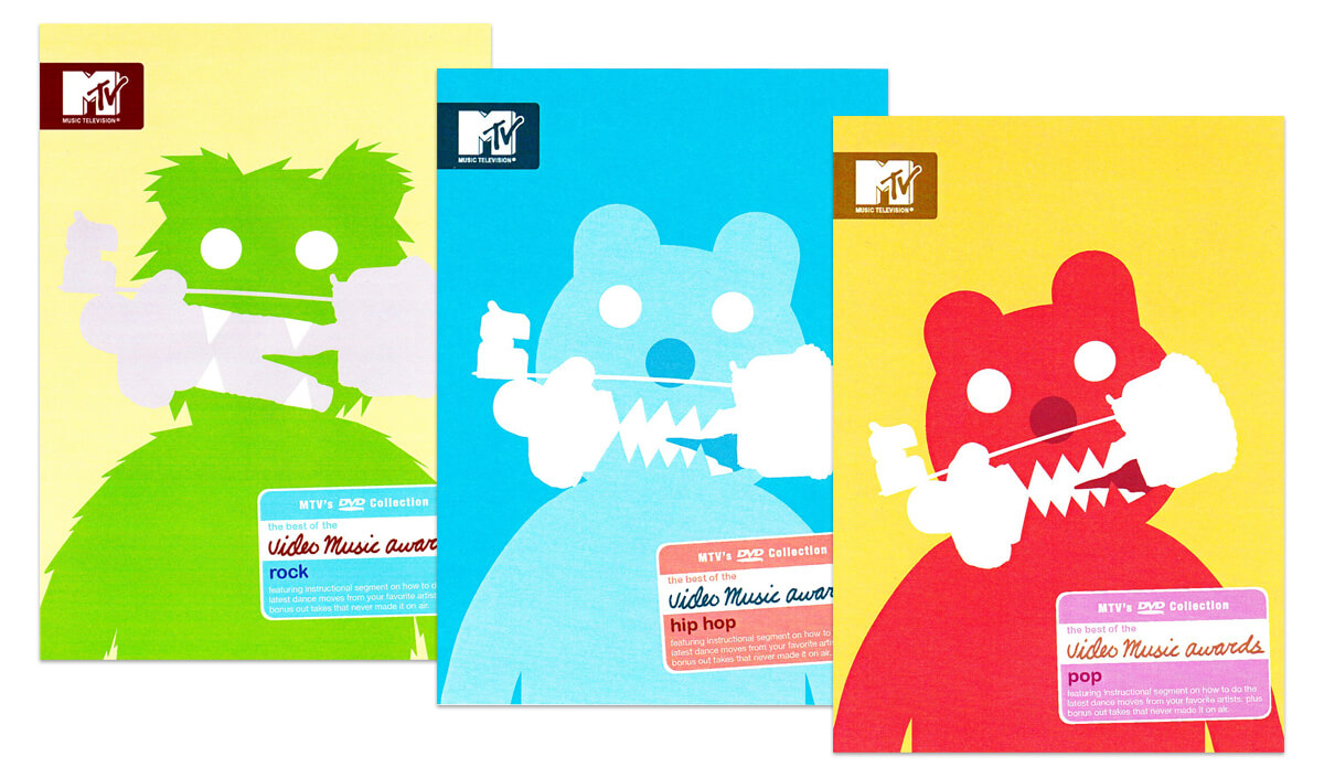 MTV Video Music Awards packaging. Illustrations by Geoff Mcfetridge.
