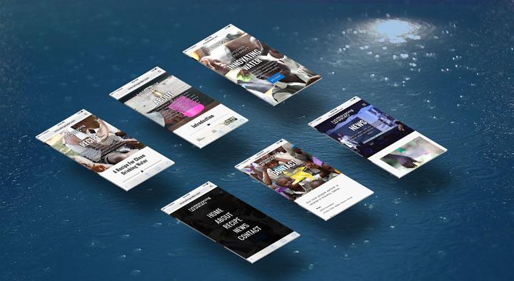 Responsive Design of Innovating Water Website