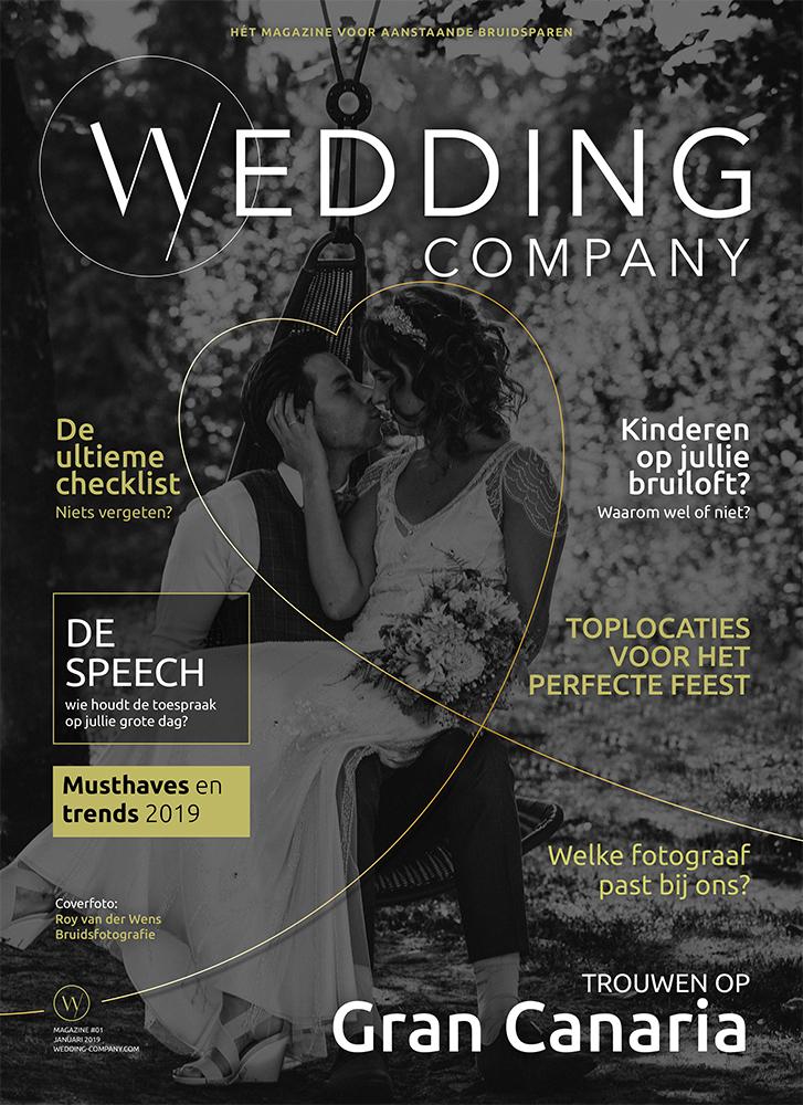 Cover, Wedding Company Magazine, 2019