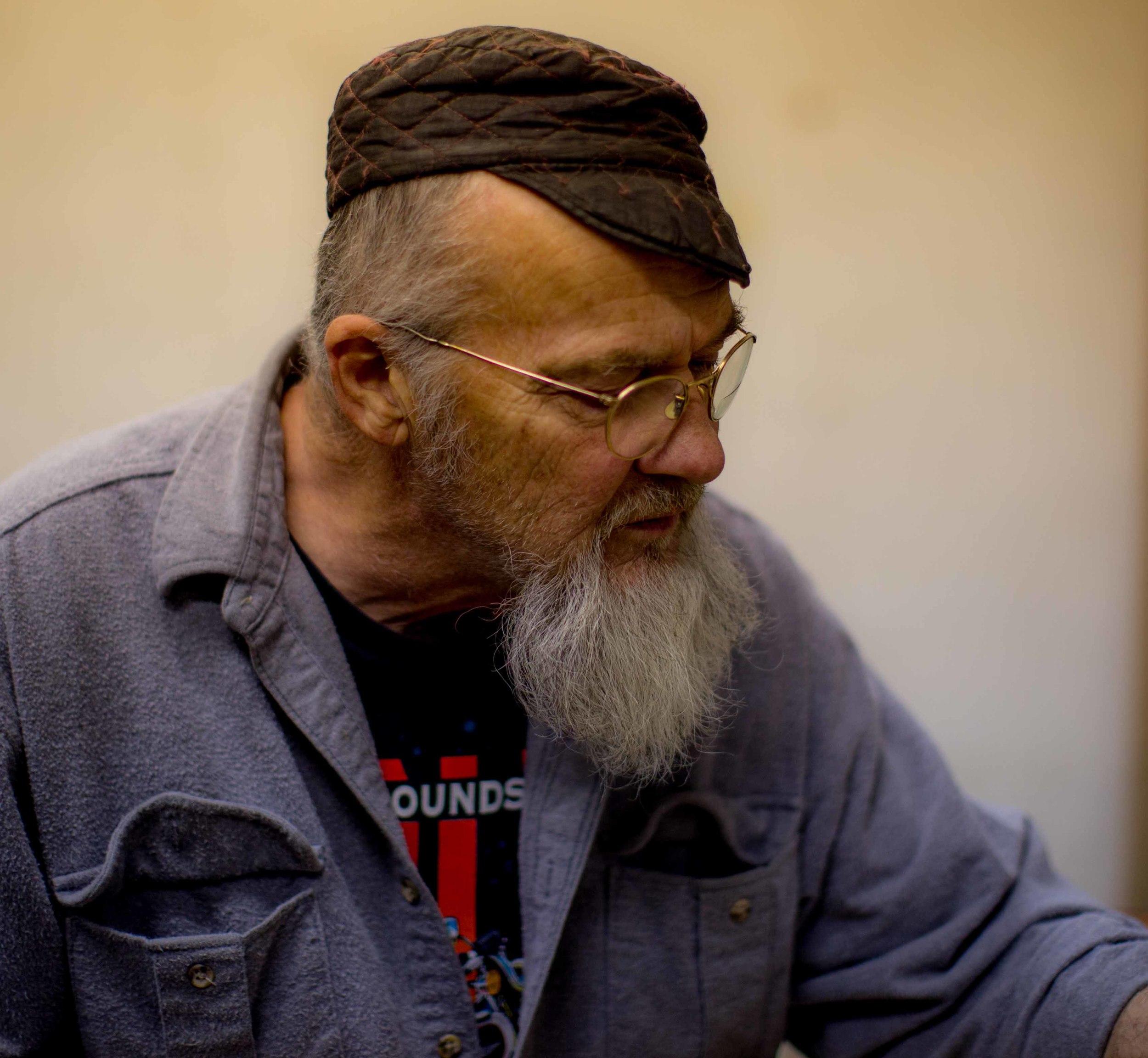 Dick Cross, local Bronze Artist and creator of the Life size Bronze Bike