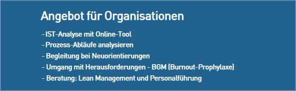 Angebot-Organisation