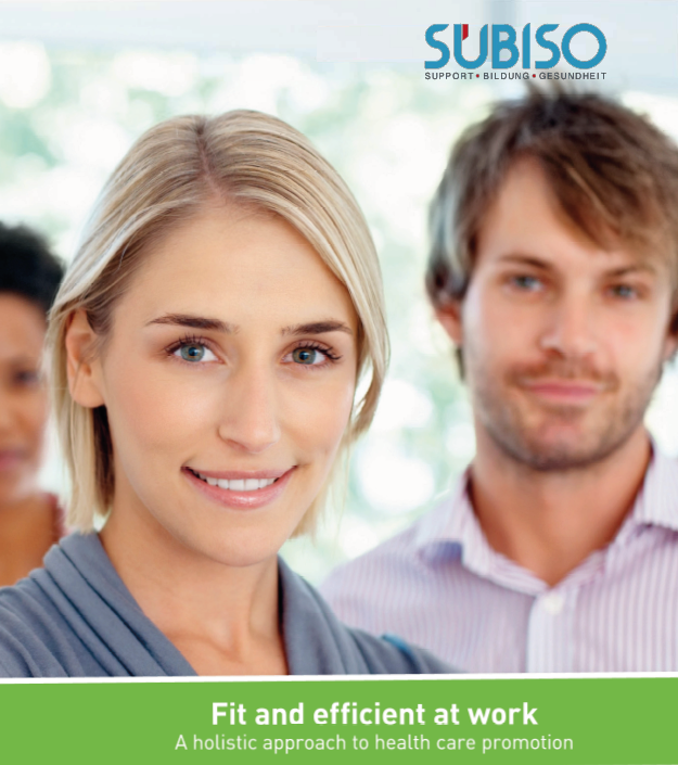 """the brochure """"Fit and efficent at work"""" in English"""