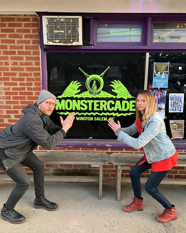 winston salem!! come by @monstercade_bar and hang with @lonniestalker and us and @tomwithfivems oh, what a night, indeed
