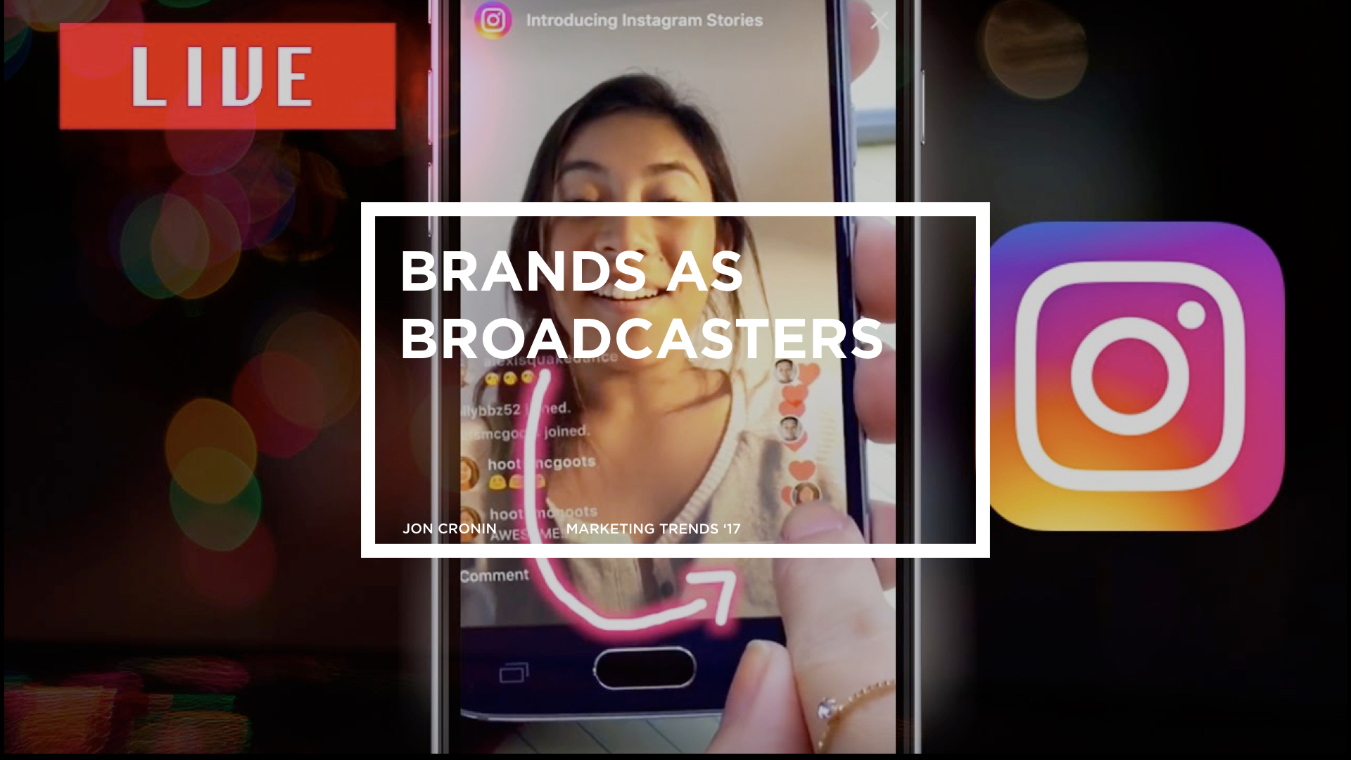 Did you know the world's population is is almost 7.5 billion and 2.5 of them are on social media? It's no wonder brands have spent almost 10.9 billion dollars trying to connect with them there. It's where we all live and social is evolving quickly with each new update of Instagram and Snapchat.  Live Video  is here and it's growing more each day. Youtube Live, Instagram Live, Facebook Live, Periscope Pro are front and center and if you don't have a Live strategy yet you are missing the boat. It's no longer just pretty pictures, clever copy and beautiful produced video, it's  Live  and it's now. As brands are now publishers, they also need to be  Live  broadcasters.