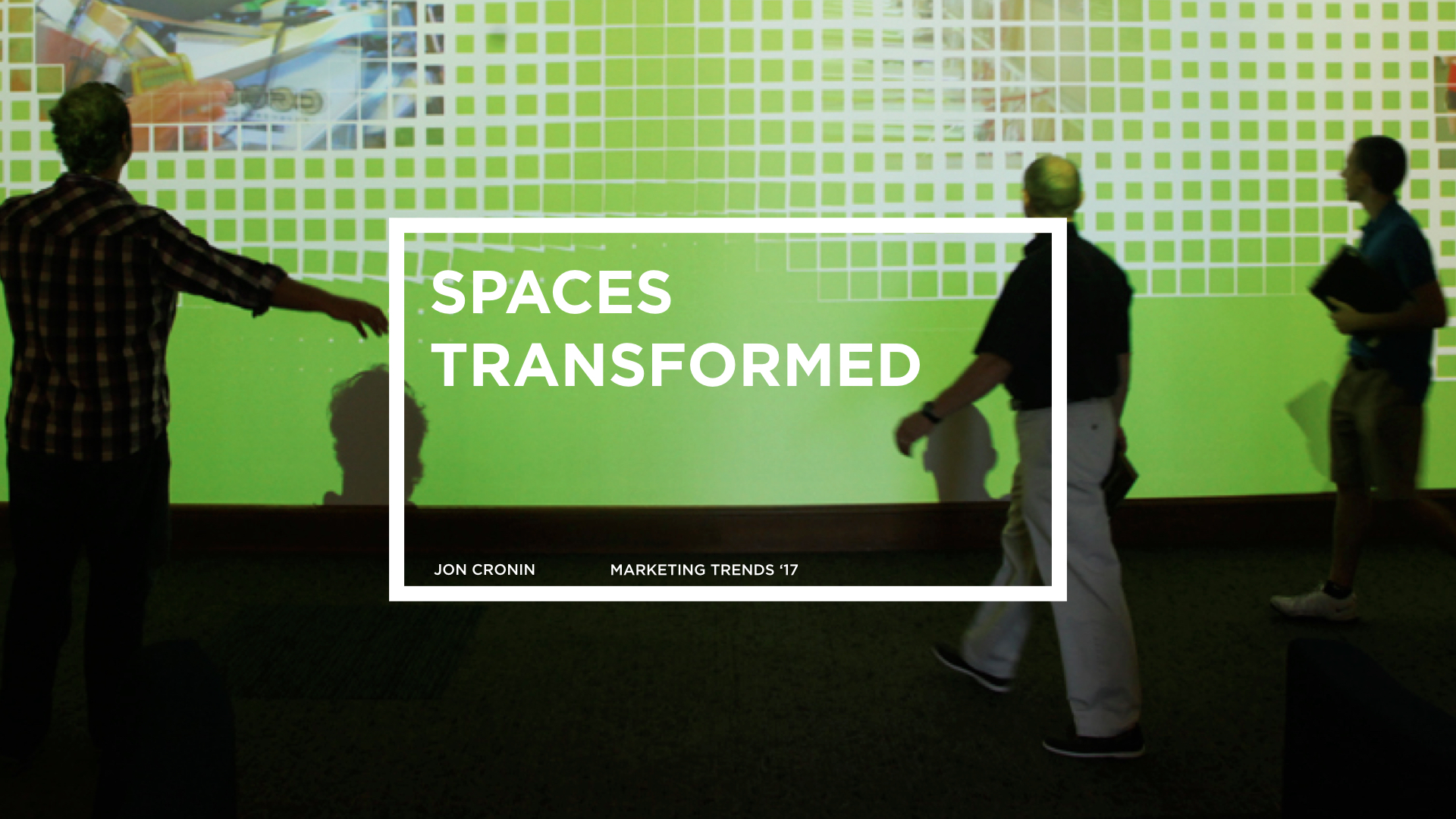 Transformative Spaces -  Interactive walls and immersive digital experiences lead by technology are becoming almost expected in the experiential world. Interactive wallpaper, 3D art wall paintings that move, 3D retail touchscreen walls, touch screen kitchens, talking walls, musical walls, sports walls - It's all about transforming spaces with technology and interactivity baby.  http://www.trendhunter.com/slideshow/interactive-walls