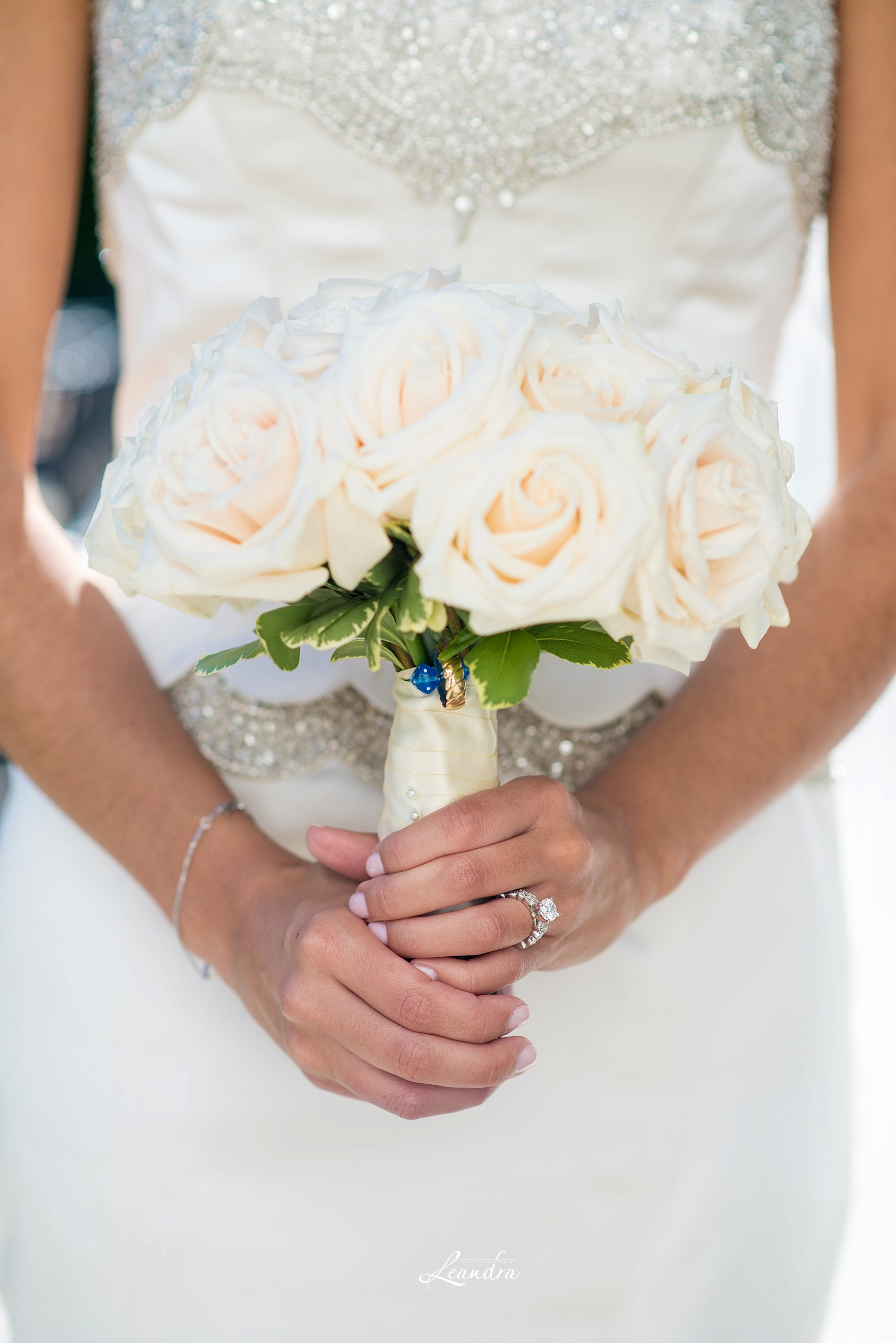 The Park Savoy Estate Wedding Bride holding her bouquet | New Jersey Wedding Photographer