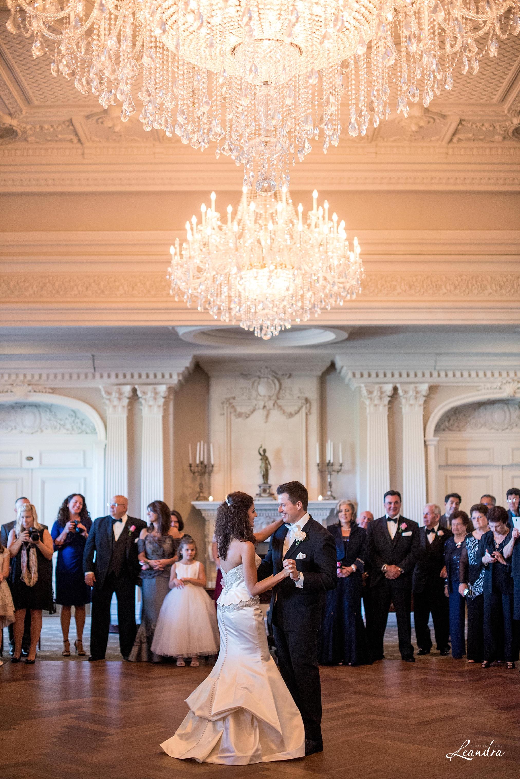 The Park Savoy Estate Wedding Bride and Groom first dance | New Jersey Wedding Photographer